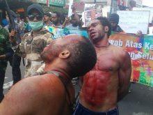 orang Papua disiksa