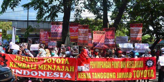Buruh Hamil Kena PHK, Ratusan Buruh Geruduk Toyota dan Kedubes Jepang